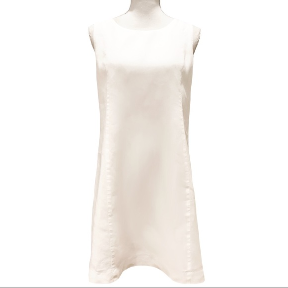 Island Company Dresses & Skirts - Island Company Sleeveless Linen Shift Dress White